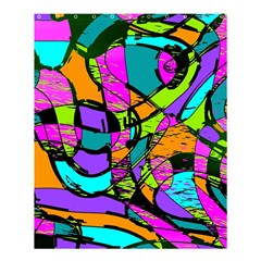 Abstract Art Squiggly Loops Multicolored Shower Curtain 60  X 72  (medium)  by EDDArt