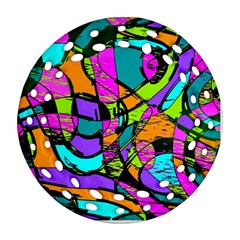 Abstract Art Squiggly Loops Multicolored Ornament (round Filigree) by EDDArt