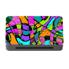 Abstract Art Squiggly Loops Multicolored Memory Card Reader With Cf by EDDArt