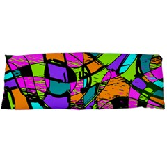 Abstract Art Squiggly Loops Multicolored Body Pillow Case Dakimakura (two Sides) by EDDArt