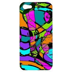 Abstract Art Squiggly Loops Multicolored Apple Iphone 5 Hardshell Case by EDDArt