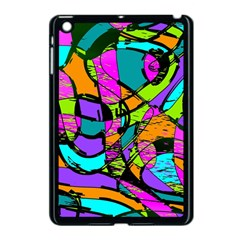 Abstract Art Squiggly Loops Multicolored Apple Ipad Mini Case (black) by EDDArt