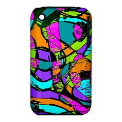 Abstract Art Squiggly Loops Multicolored Iphone 3s/3gs by EDDArt
