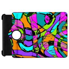 Abstract Art Squiggly Loops Multicolored Kindle Fire Hd 7  by EDDArt