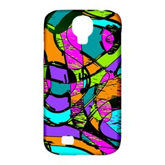 Abstract Art Squiggly Loops Multicolored Samsung Galaxy S4 Classic Hardshell Case (pc+silicone) by EDDArt