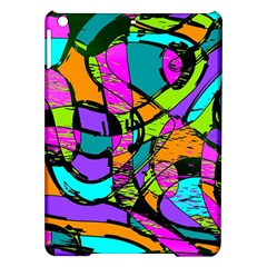 Abstract Art Squiggly Loops Multicolored Ipad Air Hardshell Cases by EDDArt