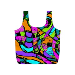 Abstract Art Squiggly Loops Multicolored Full Print Recycle Bags (s)  by EDDArt