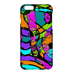 Abstract Art Squiggly Loops Multicolored Apple Iphone 6 Plus/6s Plus Hardshell Case by EDDArt