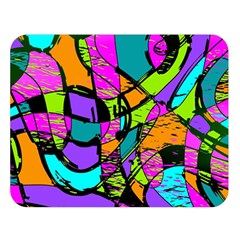 Abstract Art Squiggly Loops Multicolored Double Sided Flano Blanket (large)  by EDDArt