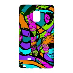 Abstract Art Squiggly Loops Multicolored Galaxy Note Edge by EDDArt