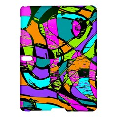 Abstract Art Squiggly Loops Multicolored Samsung Galaxy Tab S (10 5 ) Hardshell Case  by EDDArt