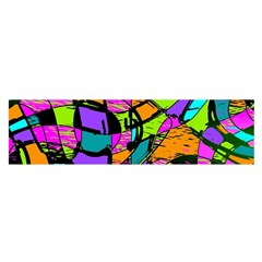 Abstract Art Squiggly Loops Multicolored Satin Scarf (oblong) by EDDArt