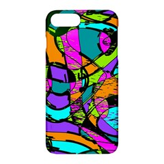 Abstract Art Squiggly Loops Multicolored Apple Iphone 7 Plus Hardshell Case by EDDArt