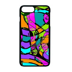 Abstract Art Squiggly Loops Multicolored Apple Iphone 7 Plus Seamless Case (black) by EDDArt