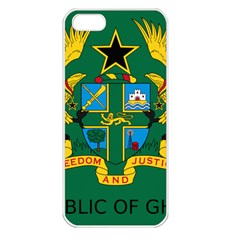 National Seal Of Ghana Apple Iphone 5 Seamless Case (white) by abbeyz71
