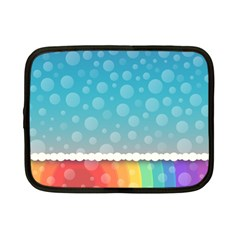 Rainbow Background Border Colorful Netbook Case (small)  by Amaryn4rt