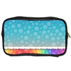 Rainbow Background Border Colorful Toiletries Bags 2 Side by Amaryn4rt