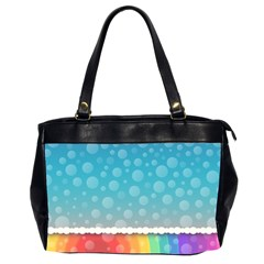 Rainbow Background Border Colorful Office Handbags (2 Sides)  by Amaryn4rt