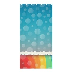 Rainbow Background Border Colorful Shower Curtain 36  X 72  (stall)  by Amaryn4rt