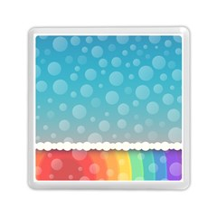Rainbow Background Border Colorful Memory Card Reader (square)  by Amaryn4rt
