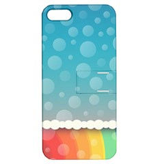 Rainbow Background Border Colorful Apple Iphone 5 Hardshell Case With Stand by Amaryn4rt