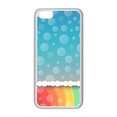 Rainbow Background Border Colorful Apple Iphone 5c Seamless Case (white) by Amaryn4rt