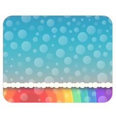 Rainbow Background Border Colorful Double Sided Flano Blanket (medium)  by Amaryn4rt