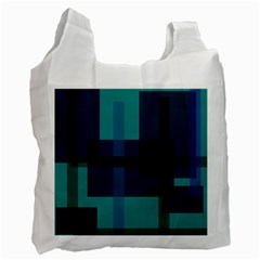 Boxes Abstractly Recycle Bag (one Side) by Amaryn4rt