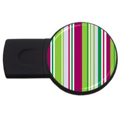 Beautiful Multi Colored Bright Stripes Pattern Wallpaper Background Usb Flash Drive Round (2 Gb) by Amaryn4rt