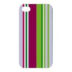 Beautiful Multi Colored Bright Stripes Pattern Wallpaper Background Apple Iphone 4/4s Hardshell Case by Amaryn4rt