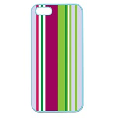 Beautiful Multi Colored Bright Stripes Pattern Wallpaper Background Apple Seamless Iphone 5 Case (color) by Amaryn4rt