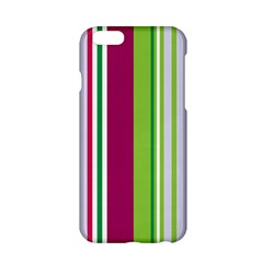 Beautiful Multi Colored Bright Stripes Pattern Wallpaper Background Apple Iphone 6/6s Hardshell Case by Amaryn4rt