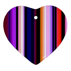 Fun Striped Background Design Pattern Ornament (heart) by Amaryn4rt