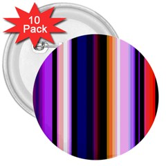Fun Striped Background Design Pattern 3  Buttons (10 Pack)  by Amaryn4rt