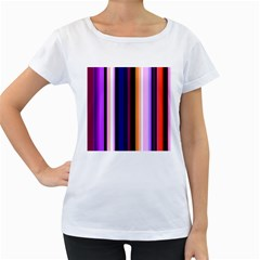 Fun Striped Background Design Pattern Women s Loose Fit T Shirt (white) by Amaryn4rt