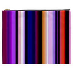 Fun Striped Background Design Pattern Cosmetic Bag (xxxl)  by Amaryn4rt
