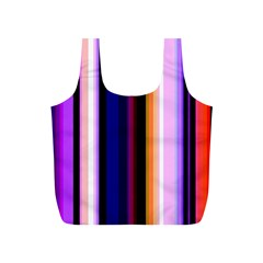 Fun Striped Background Design Pattern Full Print Recycle Bags (s)  by Amaryn4rt