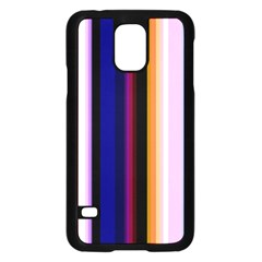 Fun Striped Background Design Pattern Samsung Galaxy S5 Case (black) by Amaryn4rt