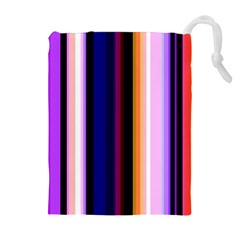 Fun Striped Background Design Pattern Drawstring Pouches (extra Large) by Amaryn4rt