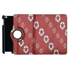 Abstract Pattern Background Wallpaper In Pastel Shapes Apple Ipad 2 Flip 360 Case by Amaryn4rt