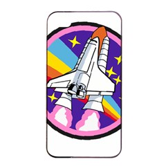 Badge Patch Pink Rainbow Rocket Apple Iphone 4/4s Seamless Case (black) by Amaryn4rt