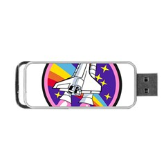 Badge Patch Pink Rainbow Rocket Portable Usb Flash (one Side)