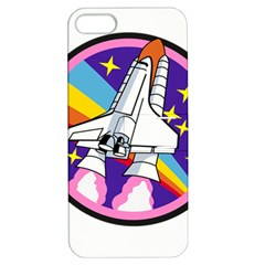 Badge Patch Pink Rainbow Rocket Apple Iphone 5 Hardshell Case With Stand by Amaryn4rt