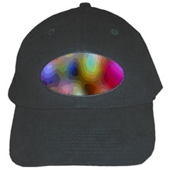 A Mix Of Colors In An Abstract Blend For A Background Black Cap by Amaryn4rt
