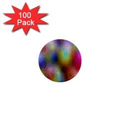 A Mix Of Colors In An Abstract Blend For A Background 1  Mini Magnets (100 Pack)  by Amaryn4rt