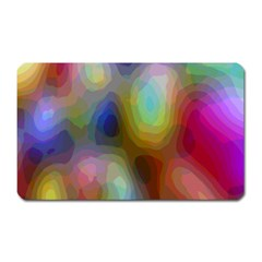 A Mix Of Colors In An Abstract Blend For A Background Magnet (rectangular) by Amaryn4rt