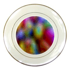 A Mix Of Colors In An Abstract Blend For A Background Porcelain Plates by Amaryn4rt