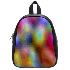 A Mix Of Colors In An Abstract Blend For A Background School Bags (small)  by Amaryn4rt