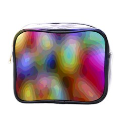 A Mix Of Colors In An Abstract Blend For A Background Mini Toiletries Bags by Amaryn4rt