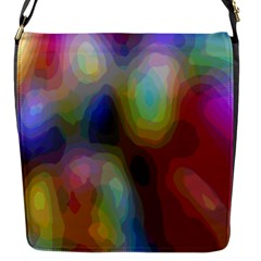 A Mix Of Colors In An Abstract Blend For A Background Flap Messenger Bag (s)